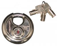 Chinrose 70mm Stainless Steel Disc Padlock with Tubular Key