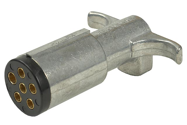 6-Way Metal Connector Plug (Trailer End) - Click Image to Close