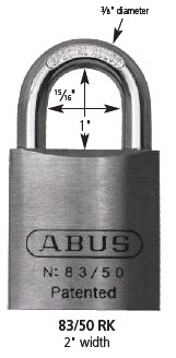 Abus 83/50 Chromed Brass Padlock